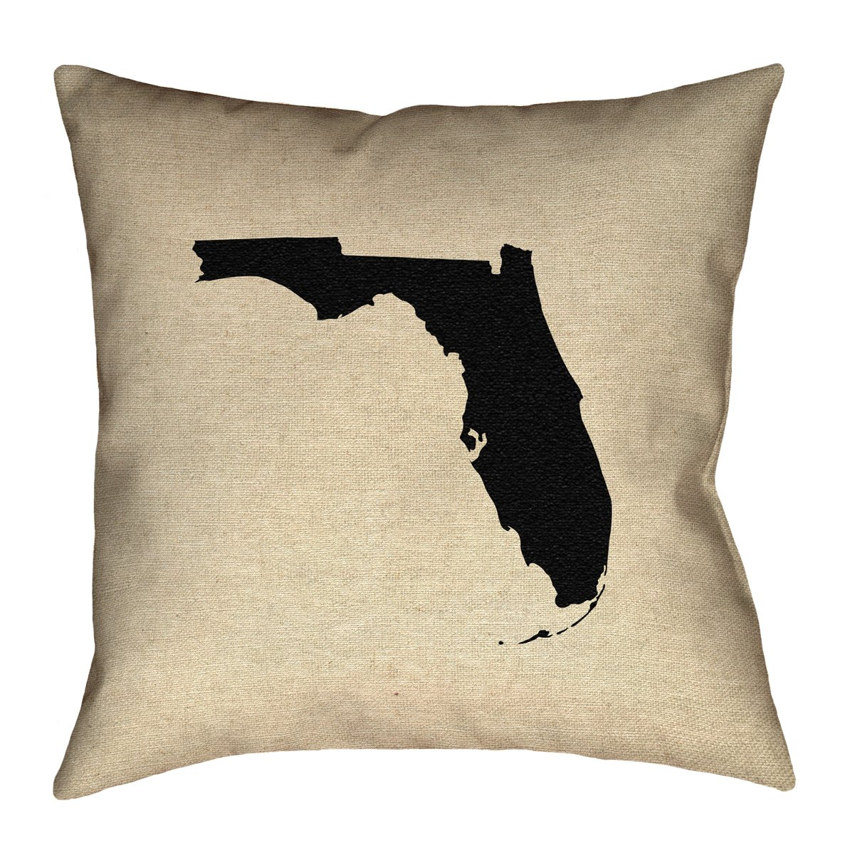 ArtVerse Katelyn Smith 20 x 20 Poly Twill Double Sided Print with Concealed Zipper /& Insert Florida Pillow