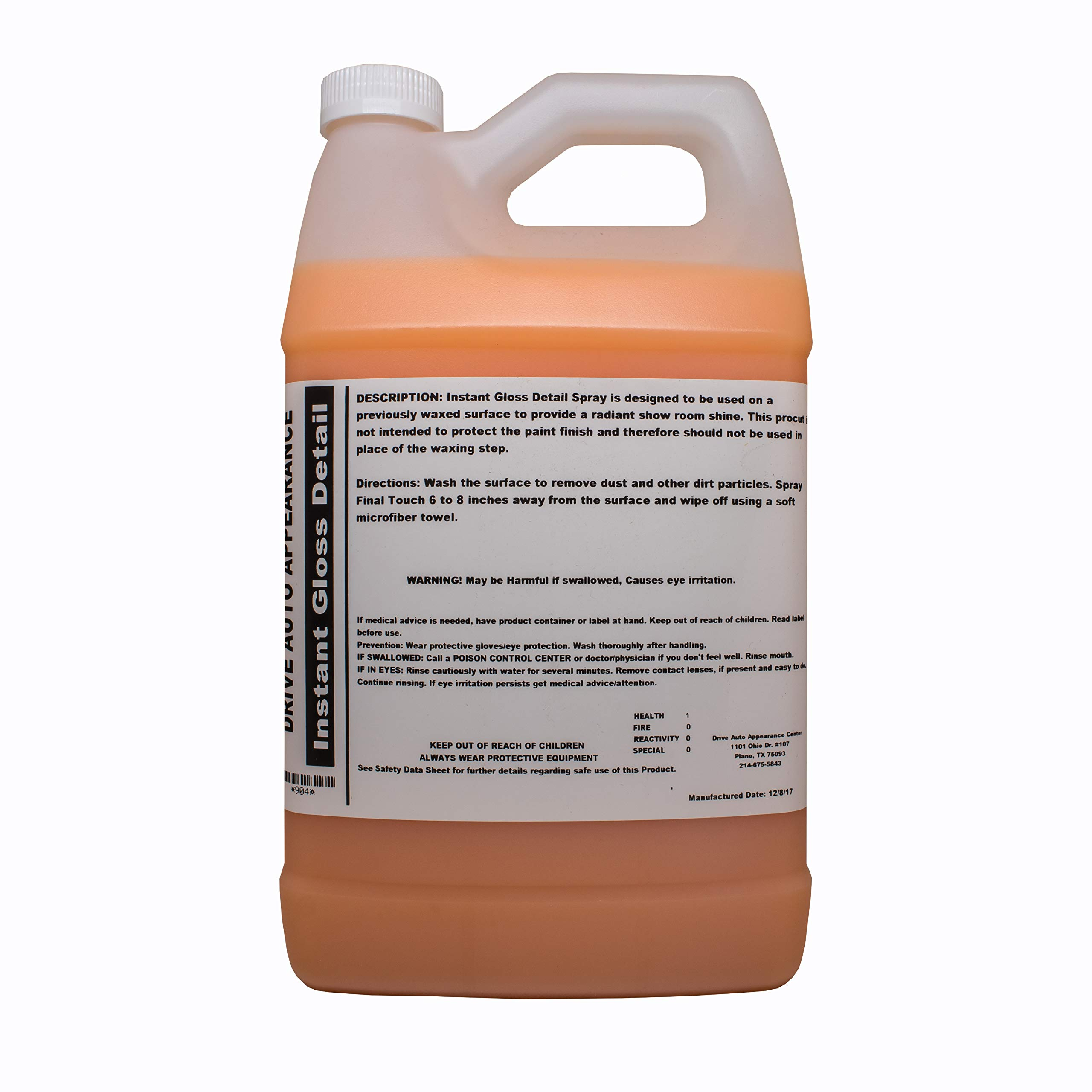 Drive Auto Appearance Instant Gloss Detail Spray-128Oz