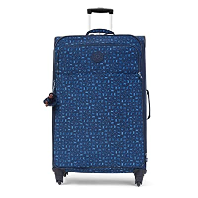 Kipling Women's Parker Large Printed Rolling Luggage One Size Monkey Mania Blue