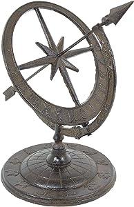 GSM Iron Armillary Sundial with Arrow