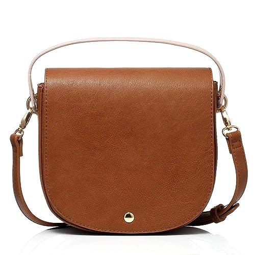d5ccbabadc Dede Dive Saddle Bag Shoulder Bags Purse Crossbody Bag for Women (Brown)