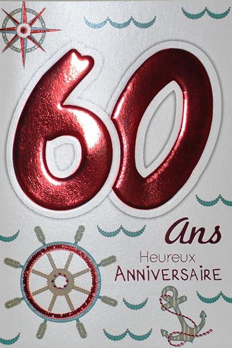 Age MV 69 - 2037 tarjeta cumpleaños 60 años hombre mujer ...