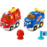 VTech Go! Go! Smart Wheels Press and Race Fire and Flame Racers, 2 Pack