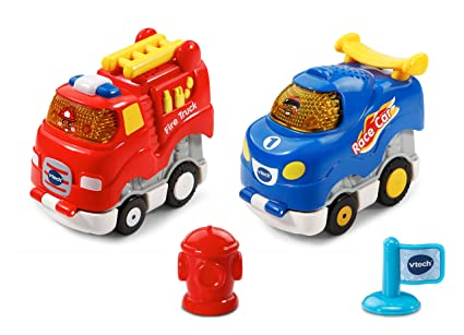 Amazon Com Vtech Go Go Smart Wheels Press And Race Fire And Flame