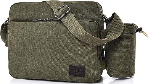 Men/'s Military Canvas Travel Hiking Messenger Satchel School Shoulder Casual Bag
