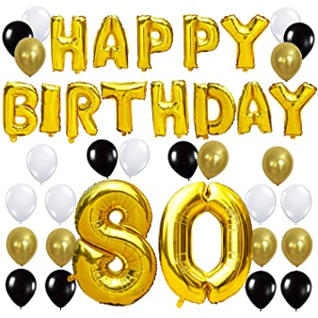 KUNGYO 80TH Birthday Party Decorations Kit