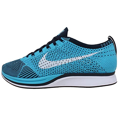 timeless design 7a759 96268 Nike Flyknit Racer Mens Running Shoes, CHLORINE BLUE WHITE-DARK OBSIDIAN, 6  M US  Amazon.ca  Shoes   Handbags