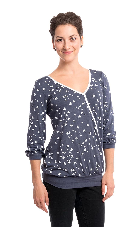 Viva la Mama Elegante Umstandsbluse Bluse für Schwangere Stillshirt Office Kleidung Schwangerschaft - Lilly SH/DV/M14_0