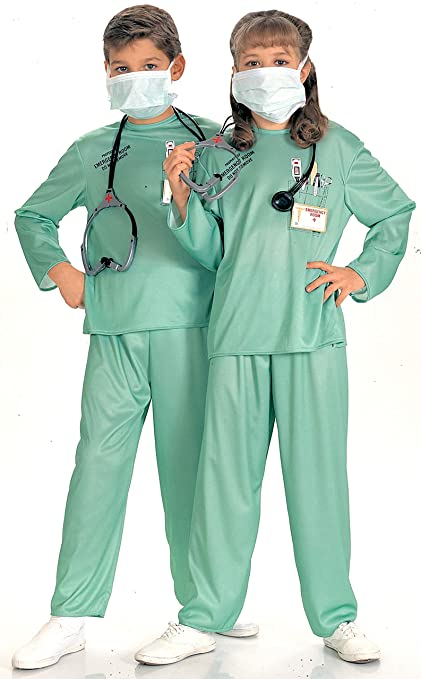 Disfraz de médico doctor para niño, Talla S infantil 3-4 años (Rubies 881061-S)
