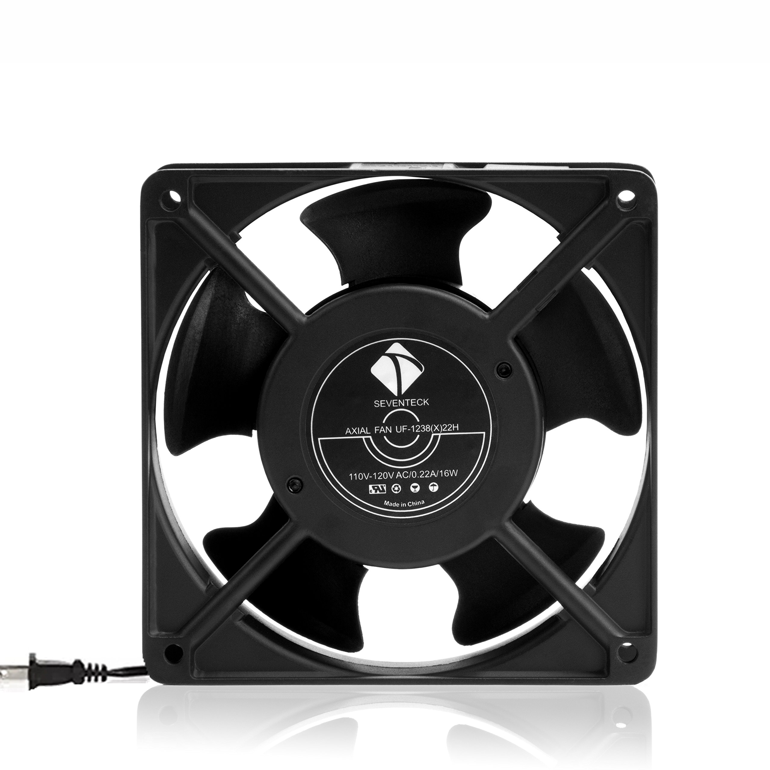 1238 Axial Fan AC 110V Cooling Fan,Muffin Fan Two Guards 4-Feet Power Cord DIY Cooling Ventilation Exhaust Projects