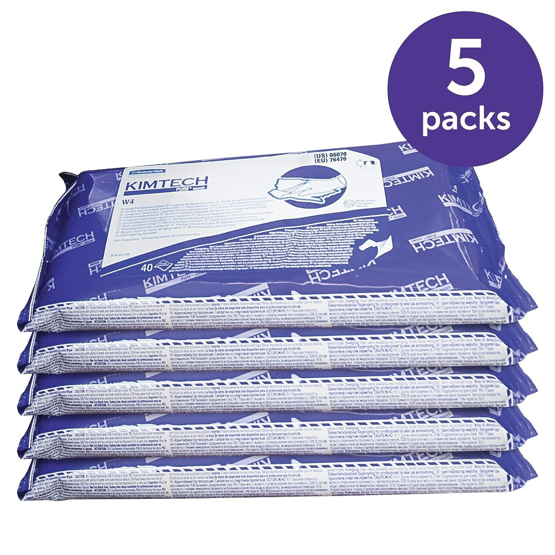 Kimtech 06070 W4 PreSat Limpiaparabrisas con alcohol, 70 % IPA, 9 x 11, blanco, 40 por paquete (caja de 10) (enchapado): Amazon.es: Industria, empresas y ciencia