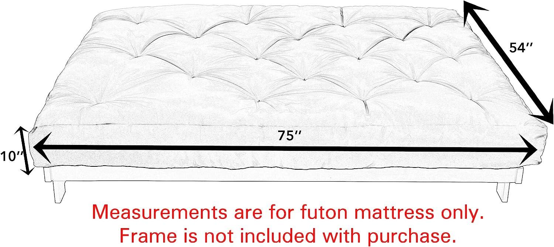 Mozaic Full Size 10 Thick Futon Mattress Charcoal Grey
