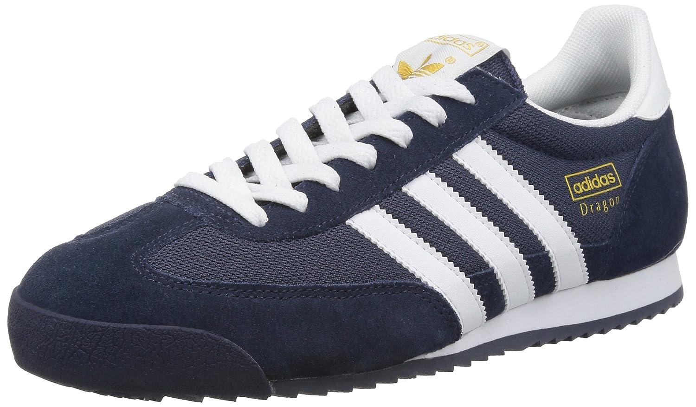 Adidas Originals Dragon, Zapatillas de Deporte para Hombre 36 2/3 EU|Azul (New Navy/White/Metallic Gold)