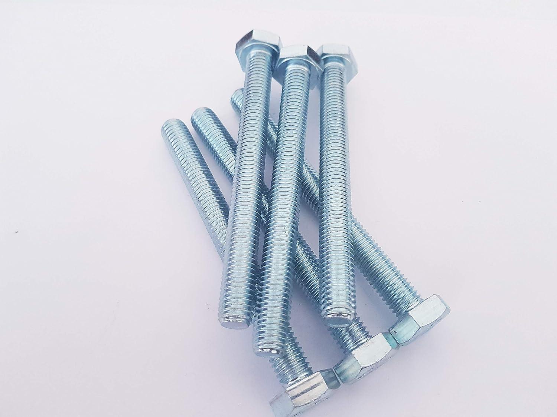 Tornillos hexagonales M10 totalmente roscados, chapados en zinc