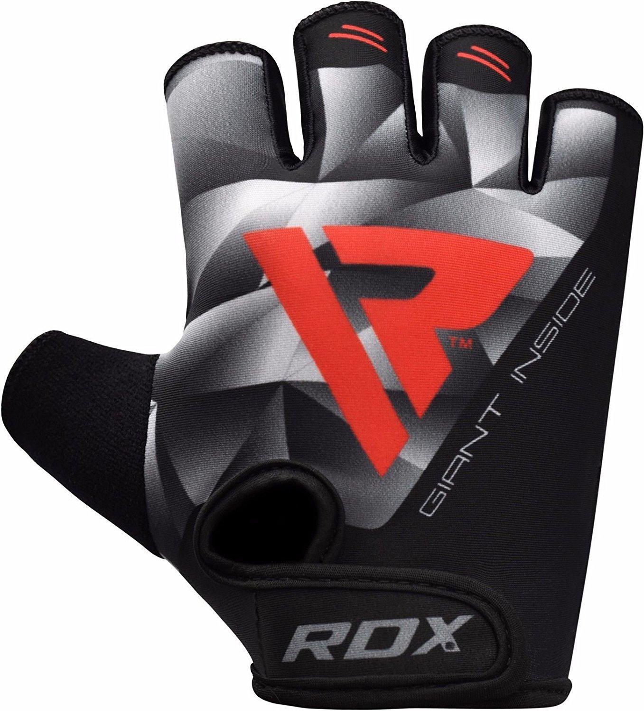 RDX Guanti Palestra Uomo Sollevamento Pesi Fitness Bodybuilding Allenamento Esercizio Pesistica Polso