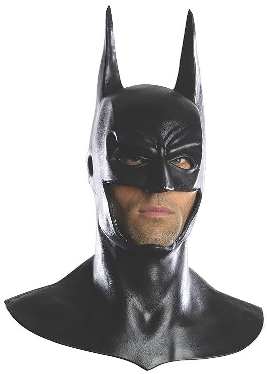 Amazon.com Rubieu0027s Menu0027s Arkham City Deluxe Batman Cowl Mask Black One Size Clothing  sc 1 st  Amazon.com & Amazon.com: Rubieu0027s Menu0027s Arkham City Deluxe Batman Cowl Mask Black ...