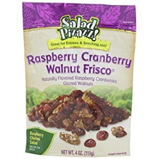 Salad Pizazz Salad Toppings, Raspberry Cranberry Walnut Frisco, 4 Ounce (Pack of 6)
