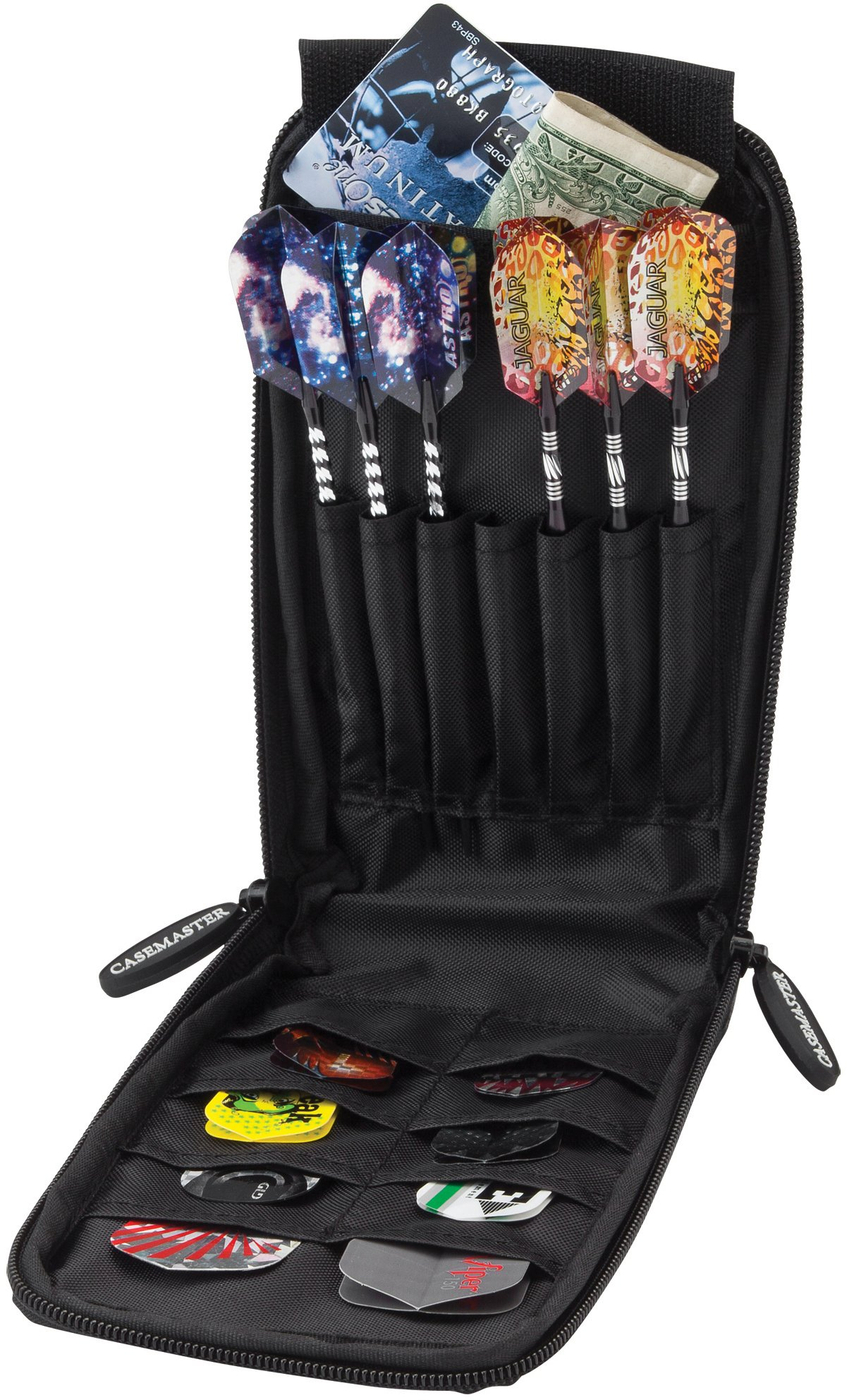Casemaster Mini Pro 6 Dart Leatherette Storage/Travel Case, Black by Casemaster by GLD Products