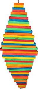 1811 Double Pyramid Bonka Bird Toys Colorful Chew Wood Pull Parrot Cockatoo Macaw African Grey Color