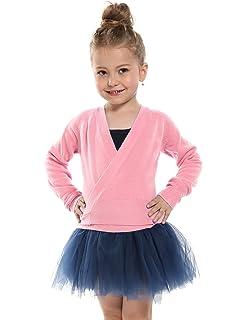 bee4cf442 Kidsmian Little Girl's Classic Long Sleeve Knit Wrap Top Ballet Dance  Cardigan