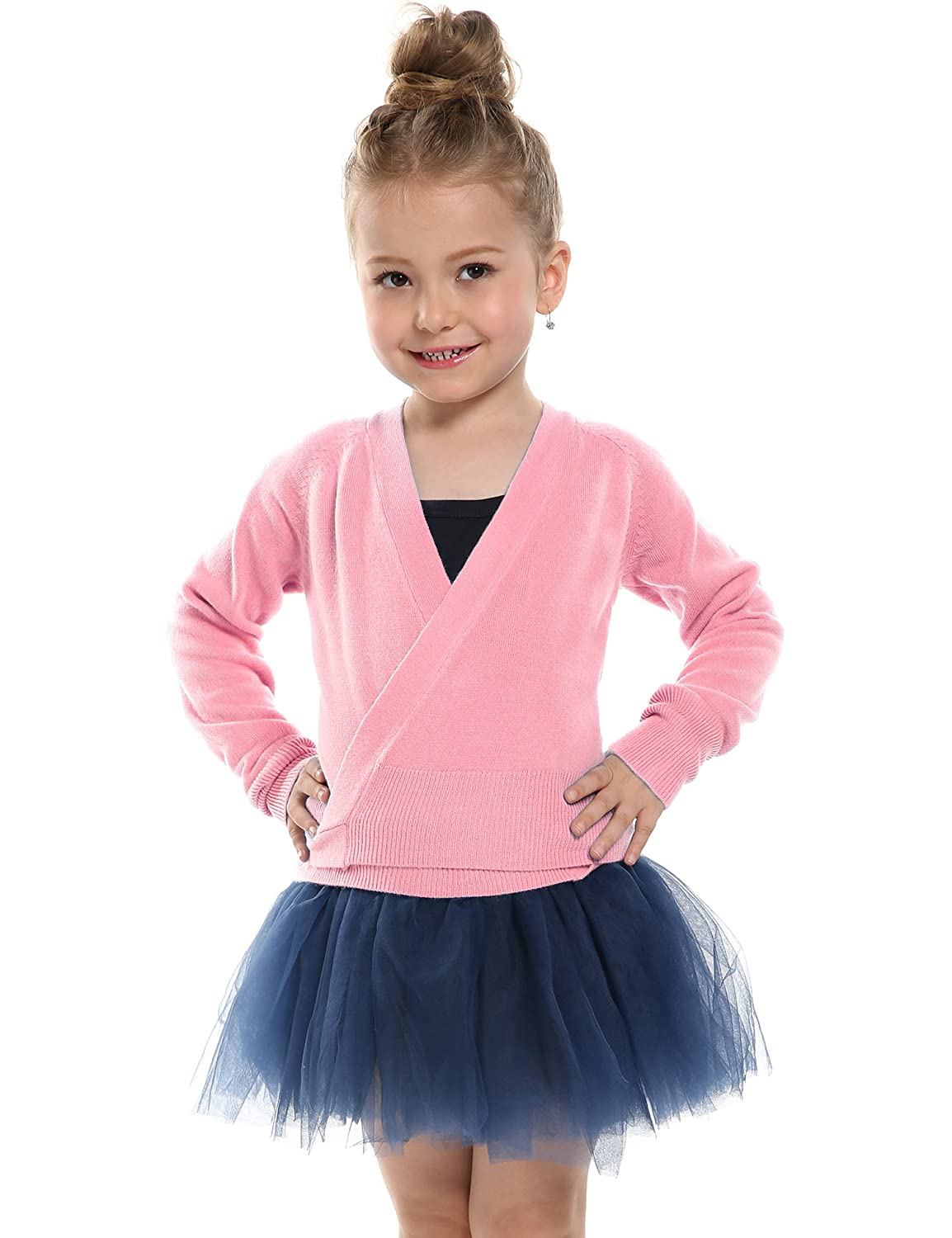 Arshiner Little Girls Cardigans Classic Knit Wrap Sweater Wrap Top