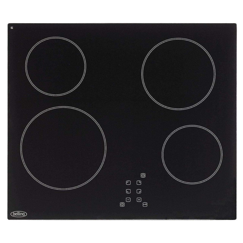 Belling CH60TXBLK 600mm Ceramic Hob Touch Control Timer Black