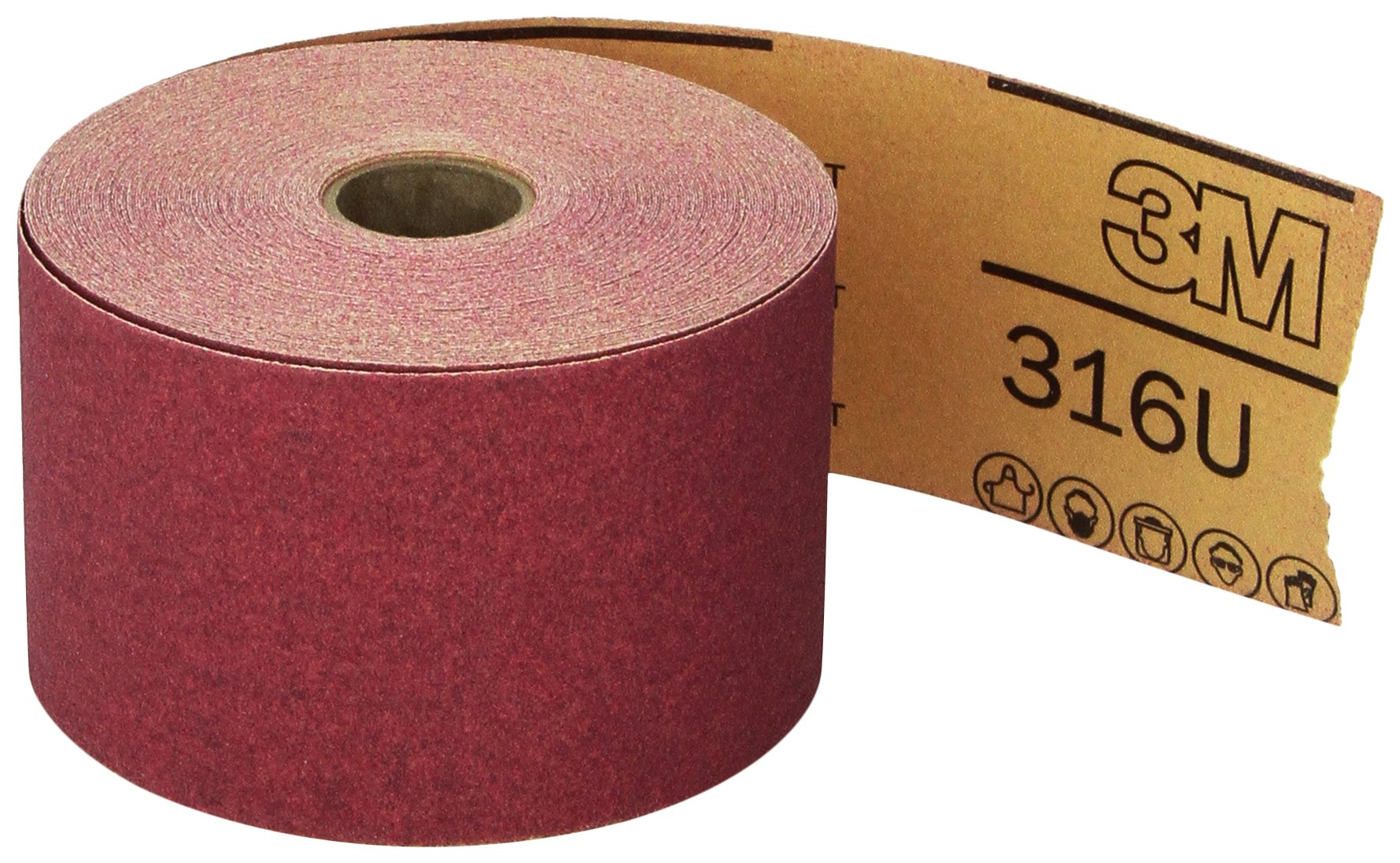 3M 01687 Stikit Red 2-3/4'' x 25 Yard P120 Grit Abrasive Sheet Roll by 3M