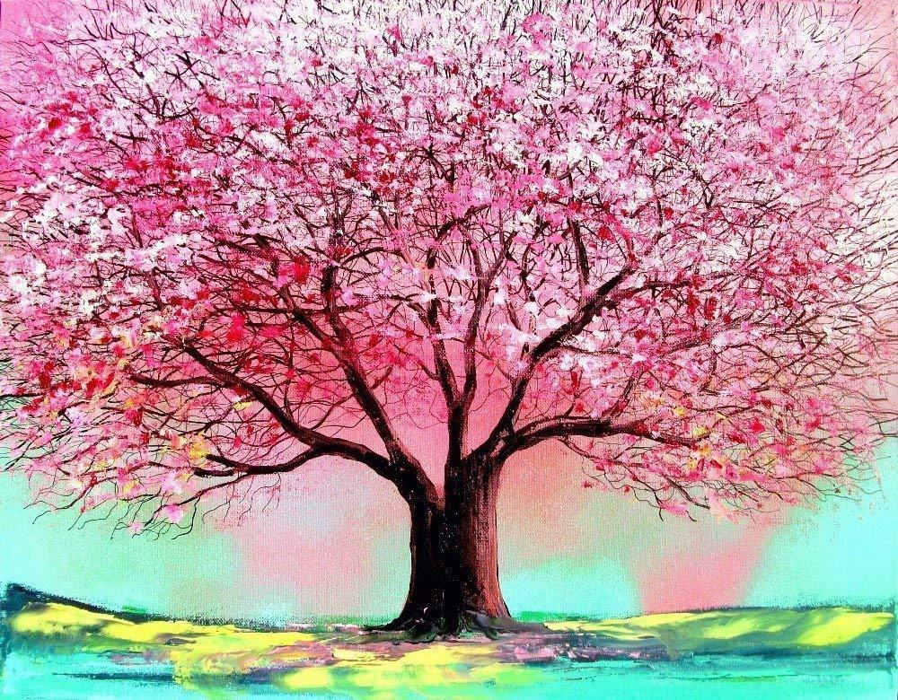 Amazon Com Tree Of Life Print Cherry Blossom Tree Spring Tree