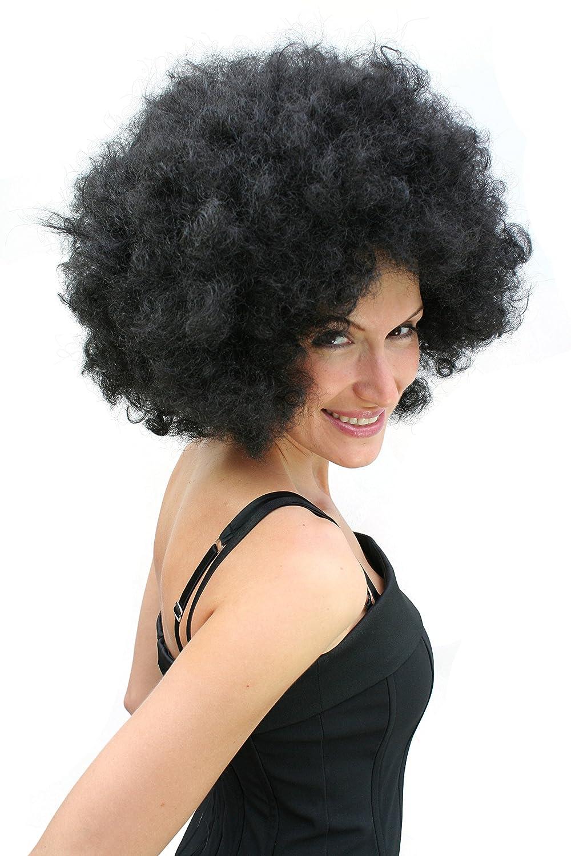 WIG ME UP ® - Peluca afro, negra, años 70 PW0011-P103: Amazon.es: Juguetes y juegos