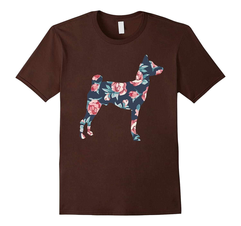 Vintage Basenji Dog Floral T-Shirt Dog Lover Floral Tee-CD