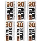 Korbond Pack ahorro de recambios para rodillo quitapelusas: 6 rollos de 90 hojas, recogen pelusas, polvo, pelos y pelo…