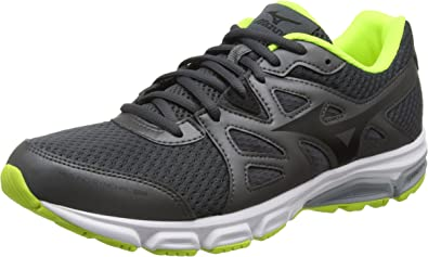 Mizuno J1GE161814, Zapatillas de Running Hombre, Gris (Dark Shadow/Black/Safety Yellow), 40 EU (talla del fabricante: 6.5 UK): Amazon.es: Zapatos y complementos