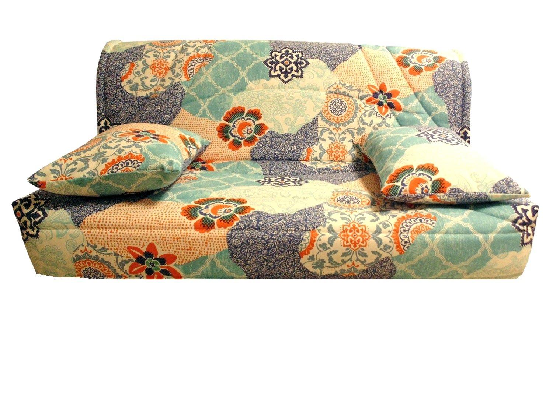 Funda acolchada para sofá-cama clic-clac 130 x 190 Calpe Glyn bleu- dos no recubierto: Amazon.es: Hogar