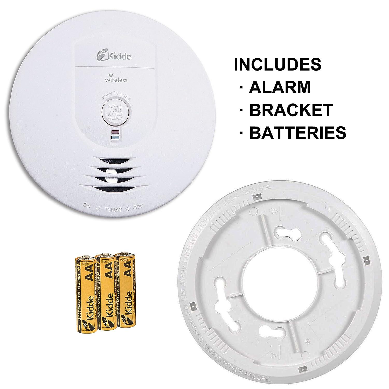 Kidde Battery Operated Wireless Interconnect Smoke Alarm Rf Sm Dc Wiring Alarms To Lighting Circuit 0919 9999 Detectors