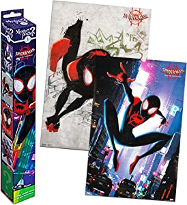 Spiderman: Into the Spider-Verse Mystery Poster Set - 2 Pack Spiderman Wall Poster Room Decor (Spiderman Merch for Kids Boys Girls)