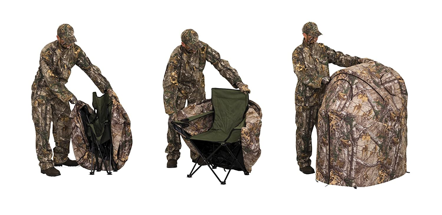 Enjoyable Ameristep Tent Chair Easy Fold Over Ground Blind Realtree Xtra Inzonedesignstudio Interior Chair Design Inzonedesignstudiocom