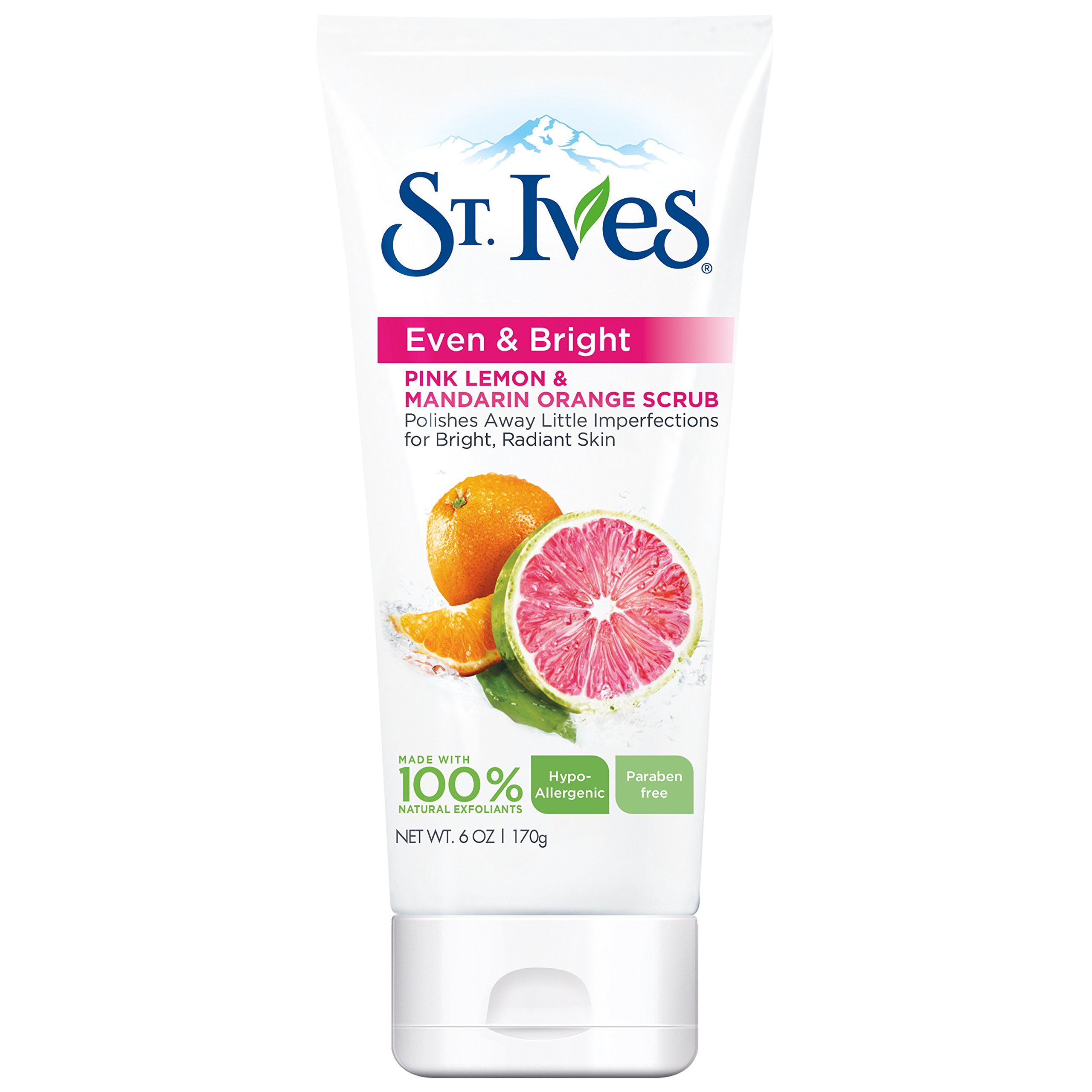 St. Ives Radiant Skin Face Scrub, Pink Lemon and Mandarin Orange 6 oz