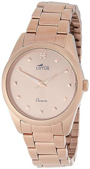 Lotus 18144/2 - Reloj de Pulsera Mujer, Color Oro Rosa: LOTUS: Amazon.es: Relojes