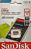 SanDisk 128GB Ultra MicroSDXC UHS-I Hafıza Kartı - 100MB/sn'e kadar - SDSQUAR-128G-GN6MN