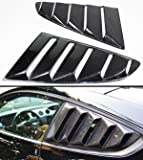 For 2015-2017 Ford Mustang GT S550 Carbon Fiber Side Vent Window Quarter Scoop Louver Covers Pair