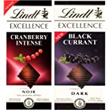 Lindt Excellence Combo of (Black Currant & Cranberry) Dark Chocolate, 100g