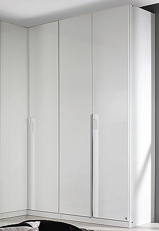 Rauch Eck-Kleiderschrank Essensa 191 x 100 cm Hochglanz weiß Höhe ...