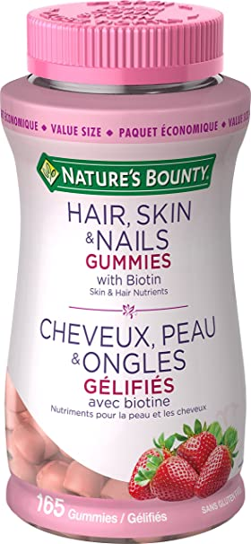 Nature\'s Bounty Hair Skin and Nails Gummies with Biotin Value Size ...