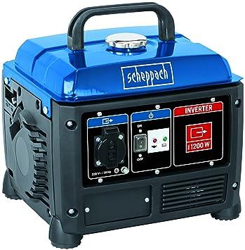 Scheppach SG1200 motor-generador 1000 W 4,2 L Gasolina Negro, Azul -