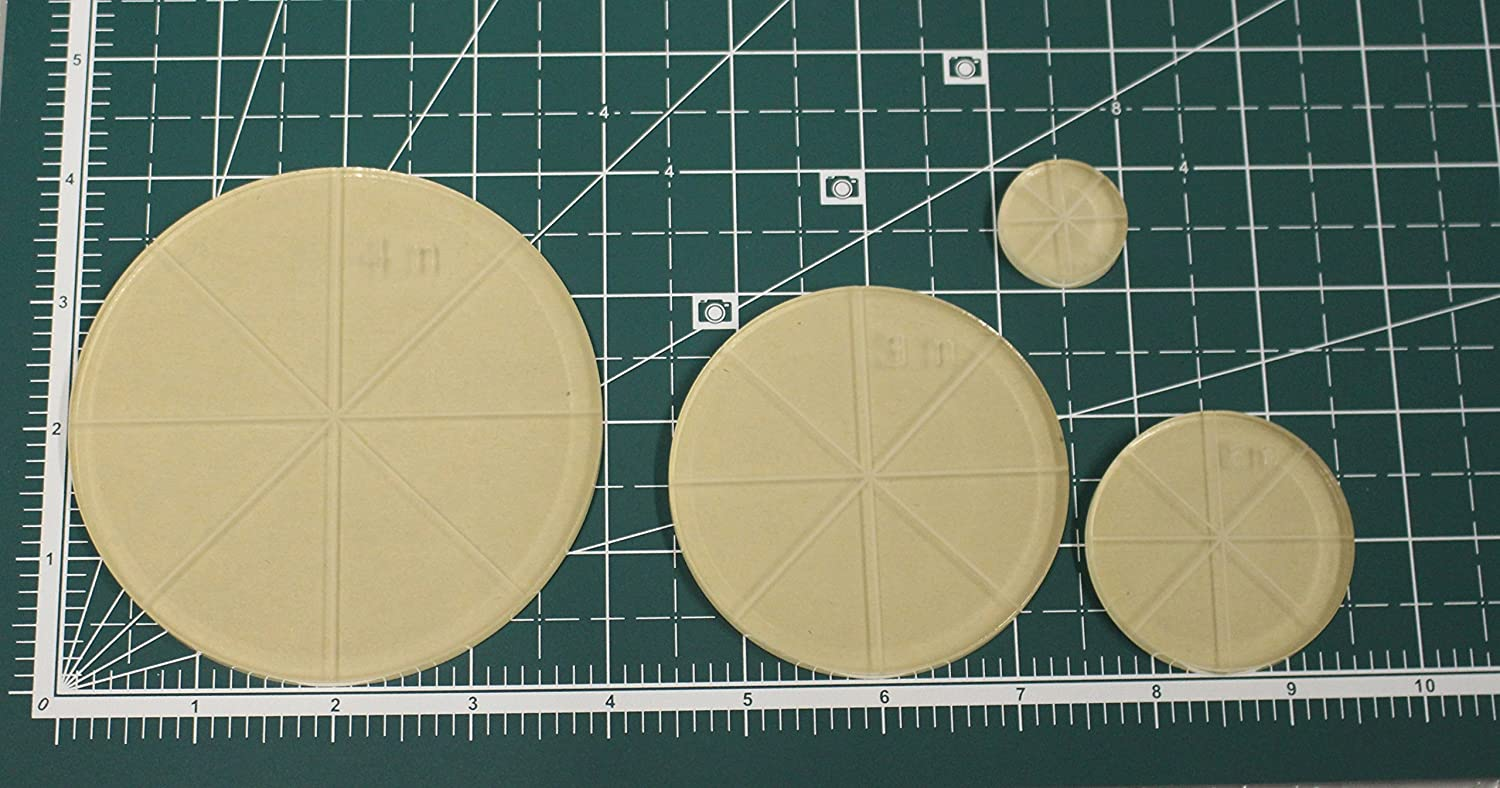4 1-1//4 Thick Circle Long Arm Quilting Template Set 3 2
