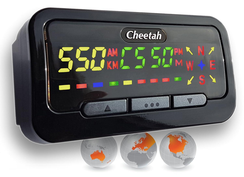 Cheetah GPS C550 ganador de premio, indica la velocidad y tiene detector de cámara con luz roja.: Amazon.es: Electrónica
