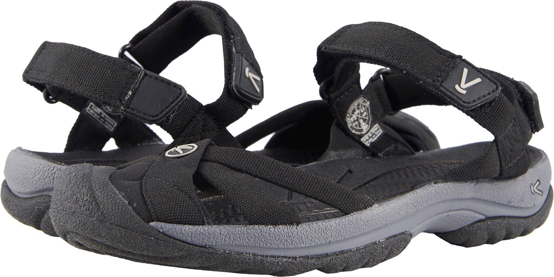 KEEN Women's Bali Strap-W Sandal, Black/Steel Grey, 9 M US