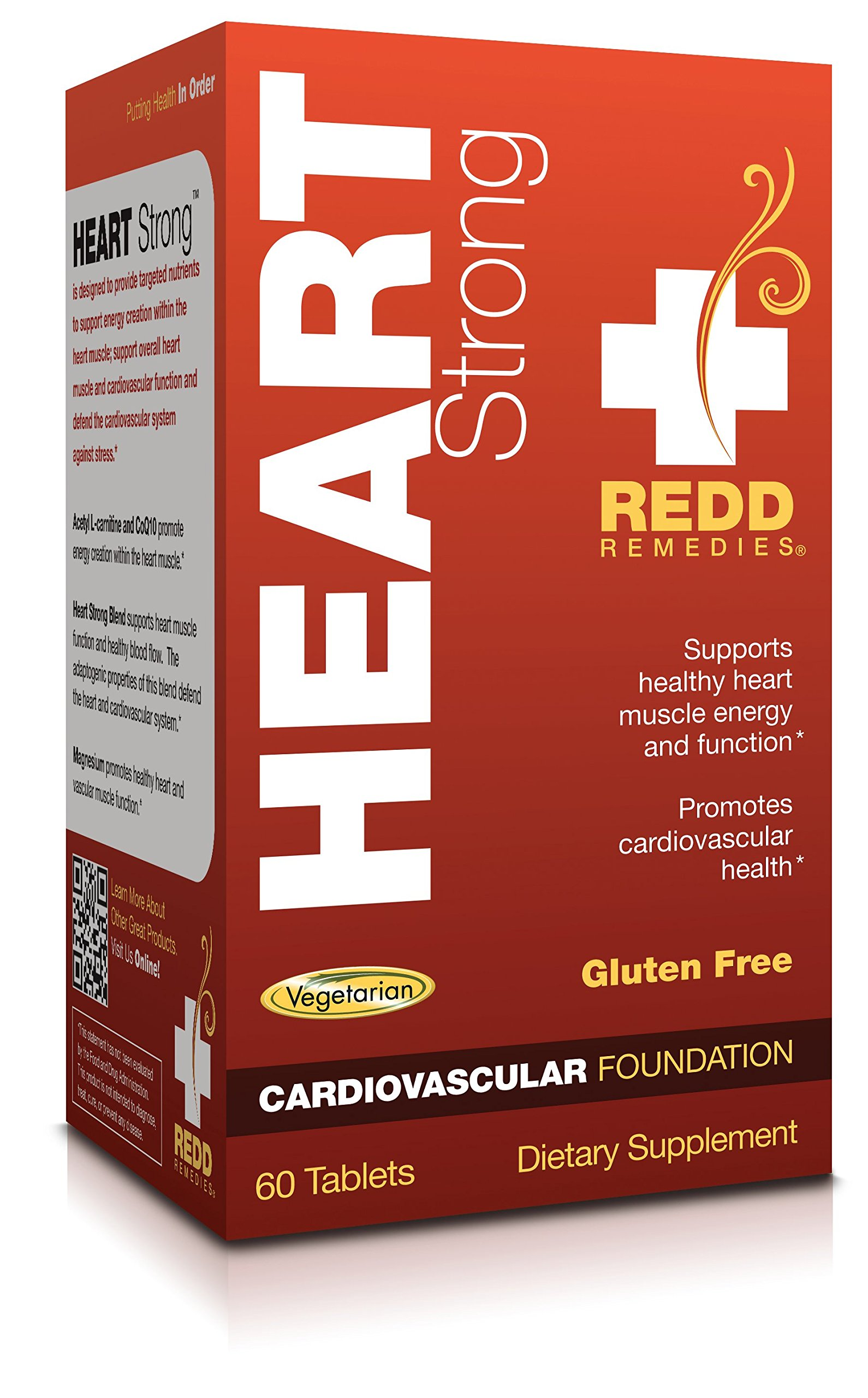 Redd Remedies - Heart Strong, Helps Maintain Heart Health and Energy, 60 count