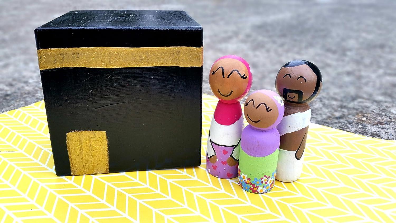 Hajj Play Set //Wooden Mosque//Wooden Masjid//Masjid Play Set//Kaba Kaba Play Set //Eid ul Adha//Hajj Gift//Makkah Mecca//Mosque Masjid//Muslim Doll