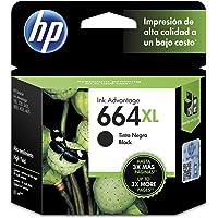 HP 664XL Cartucho de Tinta Negra de Alto Rendimiento, Advantage
